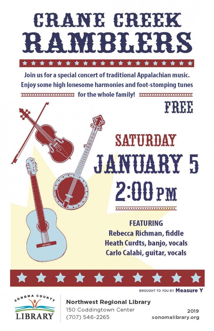 Music Appalachian Music: Crane Creek Ramblers at Northwest Library